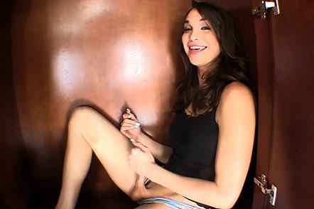 Trapped in the closet Jonelle jerks, blows & fucks in closet. Jonelle Brooks.