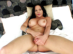 Madison stroke and ejaculate Cute Madison masturbates on bed. Madison Exotica.