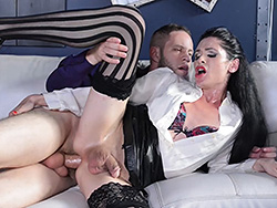 Penny and wolf Penny Tyler. Excited Penny gets fuck real violent