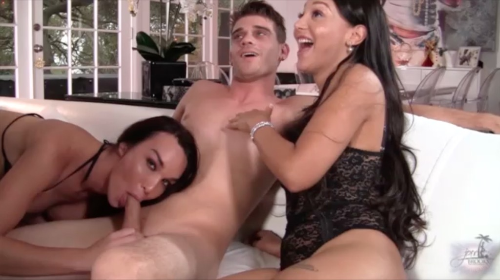 Jonelle shares a cock with hot friends foxxy and sunshyne.