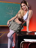 Sex ed jonelle Slutty schoolgirl Jonelle toying herself.